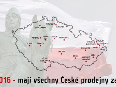 28.9.2016 – mají všechny České prodejny zavřeno