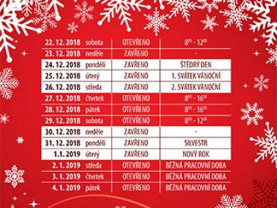 Vánoční otevírací doba prodejen